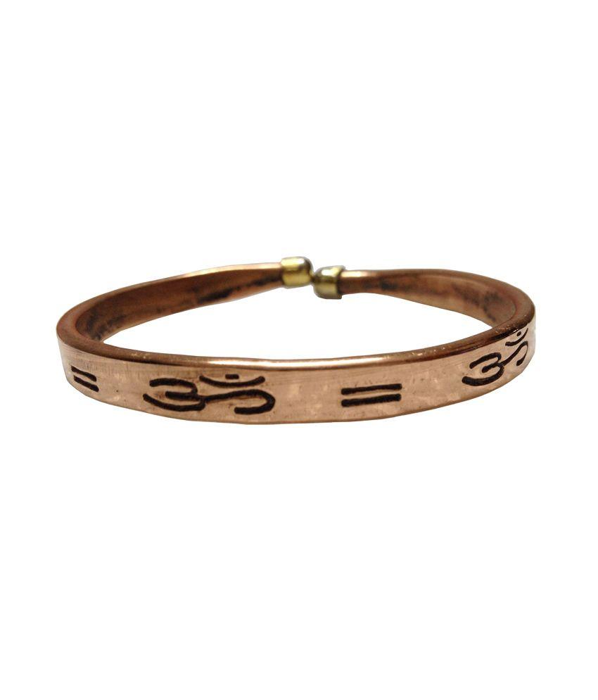 Pure Copper Kada For Men & Women With Om Symbol