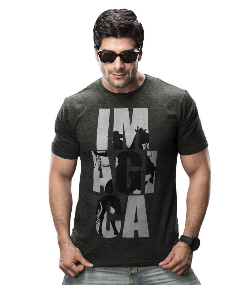 Imagica Black Cotton Blend T-shirt