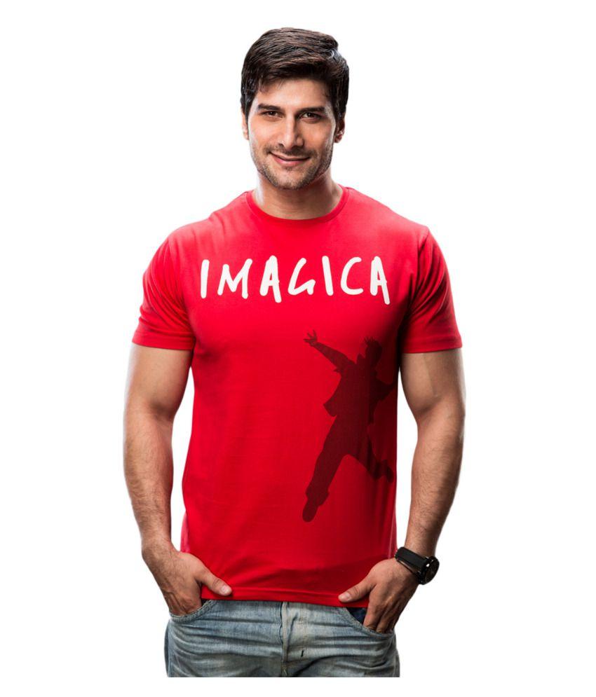 Imagica Red Cotton T-shirt