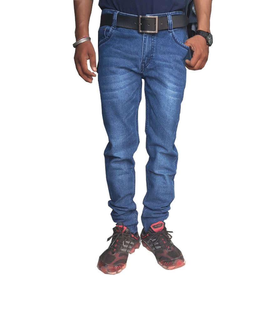Rexsr Blue Slim Cotton Basic Regular Jeans