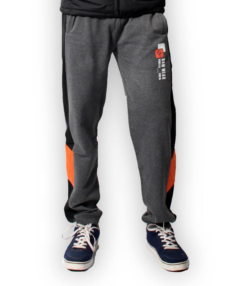 Fitz Gray Cotton Blend Trackpant