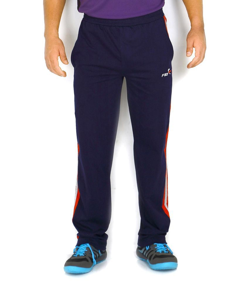 Fitz Navy Cotton Trackpant