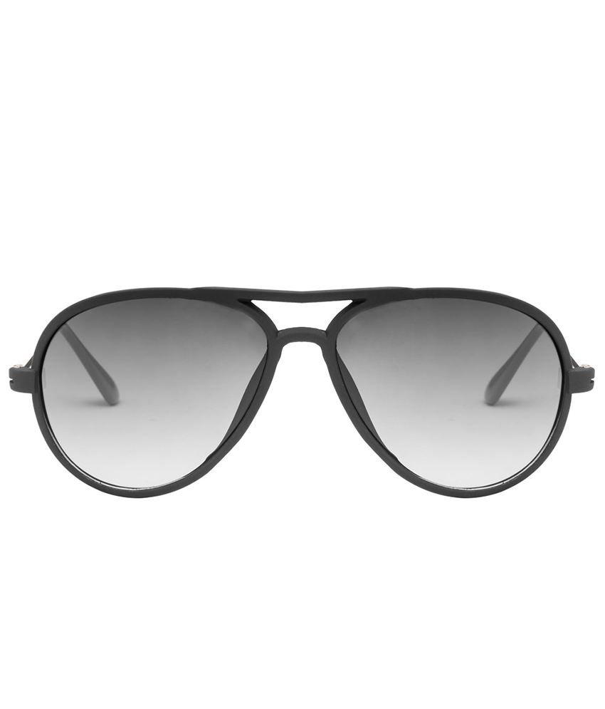 Mask 1112010 Matte Black Blue Gradient Aviator Sunglasses