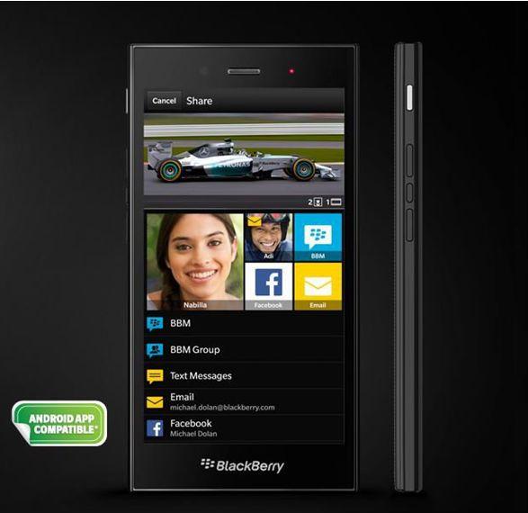 Blackberry z3 white colour dress