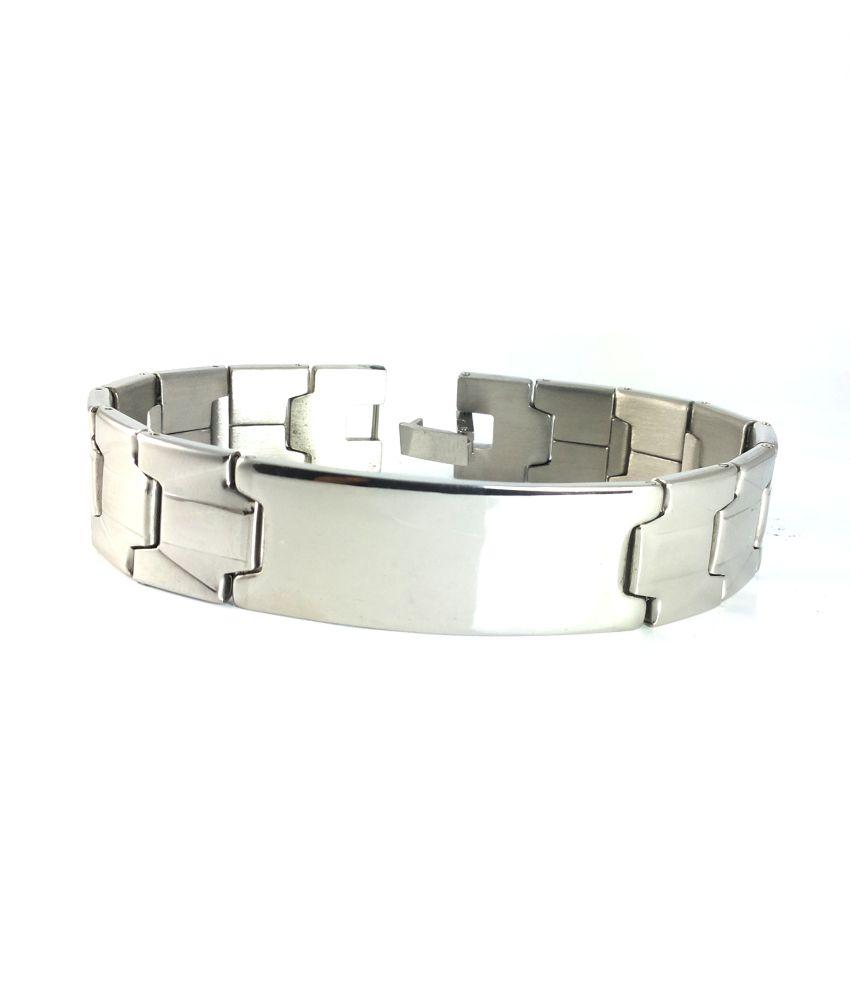 Ammvi Creations Electro-Polished Badge Bracelet