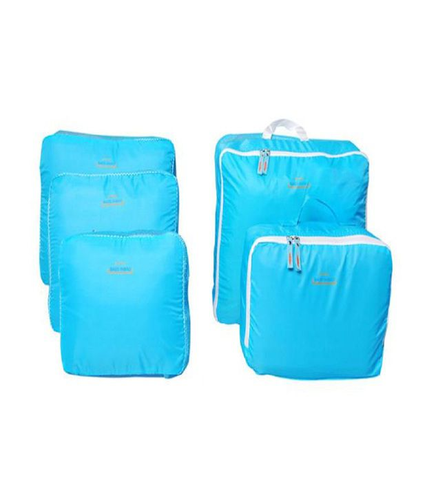 Pack N Buy Blue 5 In 1 Travel Bag Organizer - Set Of 5 Bags - Buy Pack N Buy Blue 5 In 1 Travel Bag Organizer - Set Of 5 Bags Online at Low Price - Snapdeal