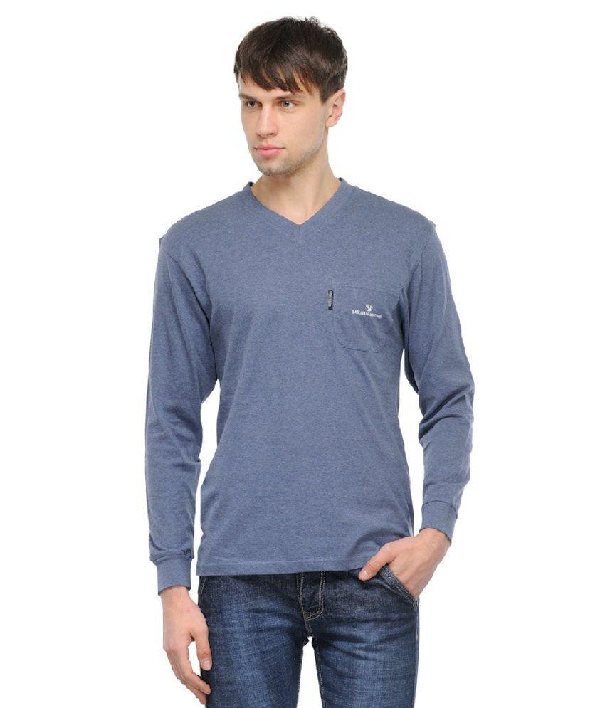 Tsx Blue Cotton Full Shirt