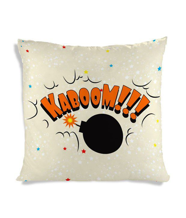 Amy Multi Color Silk Natural Kaboom Cushion Cover