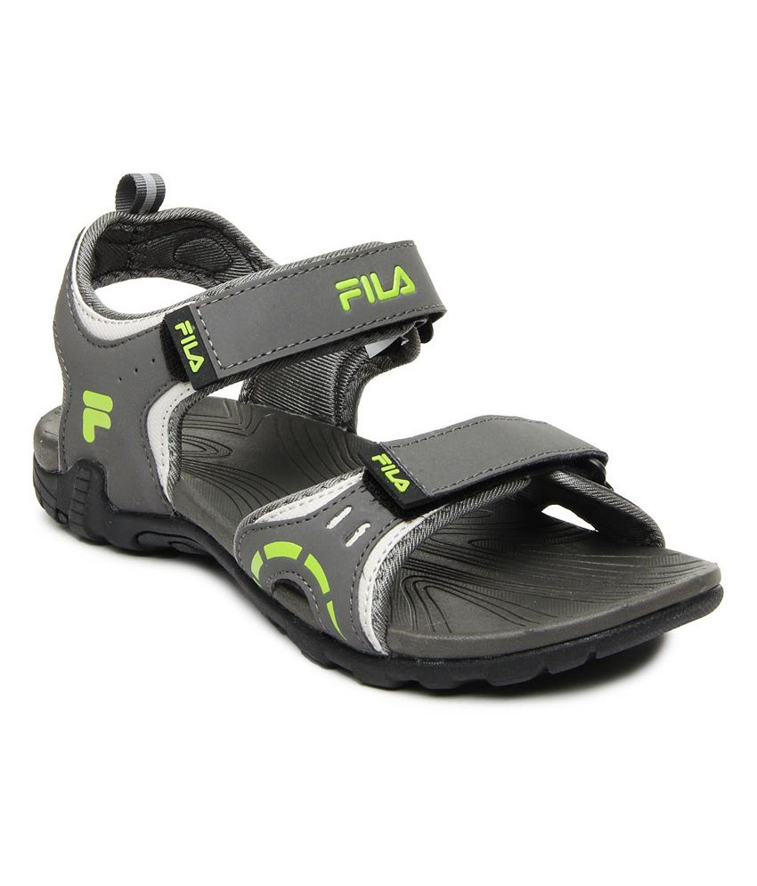 fa2c964cde76 Fila Men Grey Rollo Sports Sandals - Buy Fila Men Grey Rollo Sports Sandals  Online at Best Prices in India on Snapdeal