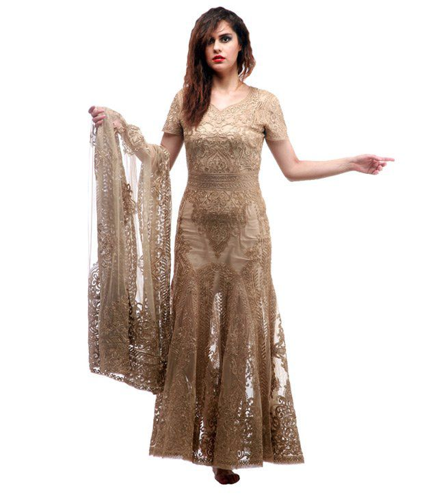 Lady R Brown Partywear Gowns - Buy Lady R Brown Partywear Gowns ...