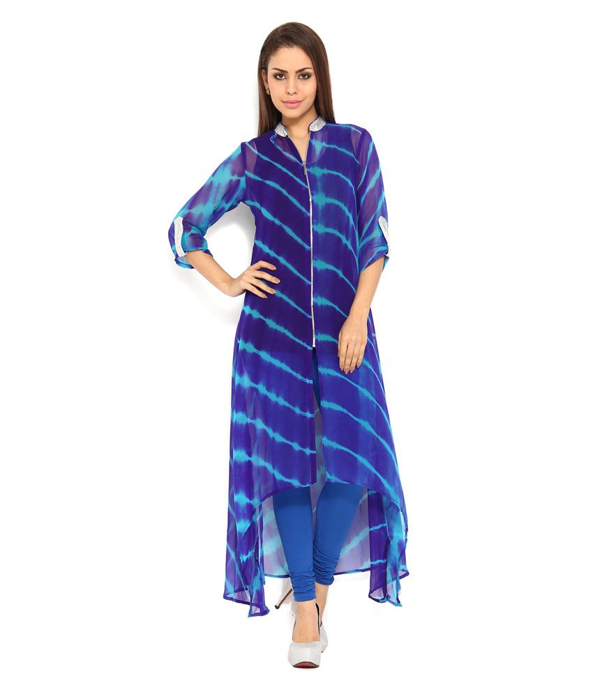 232350c65e4 Soch Chiffon Checkered Kurti - Buy Soch Chiffon Checkered Kurti Online at  Best Prices in India on Snapdeal