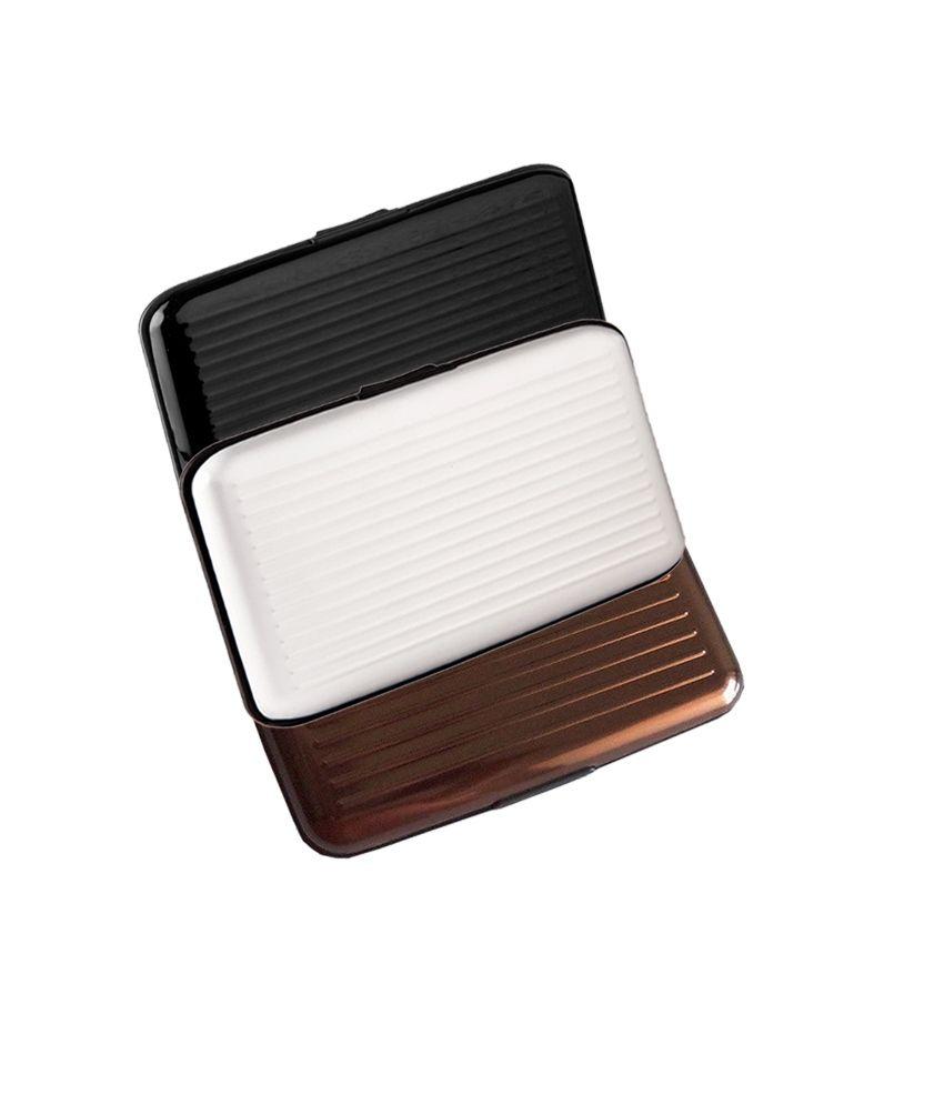 Ishita Multicolour Aluminium Security Card Holders - Set Of 3 Pieces