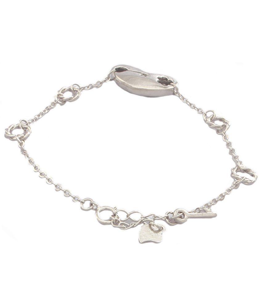 Jewelora Silver Plated Floral Bracelet