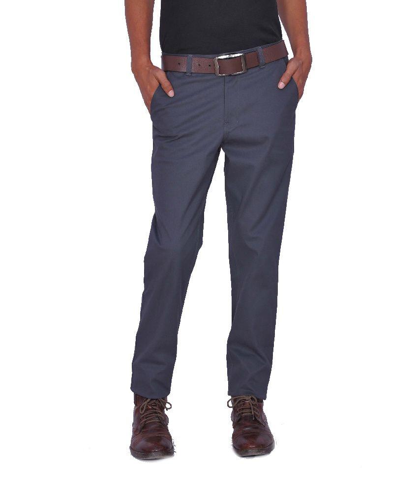 Leaf Shirt Cotton Blend Regular Formal Trouser