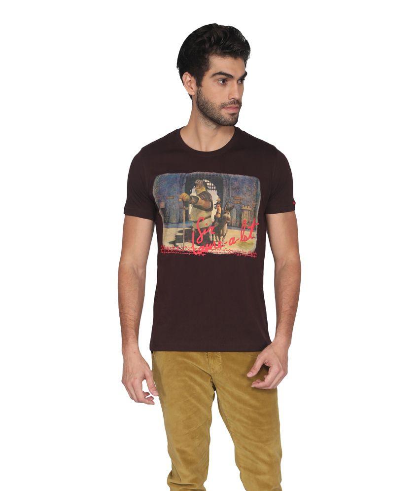Shrek Men Brown Casual T Shirts