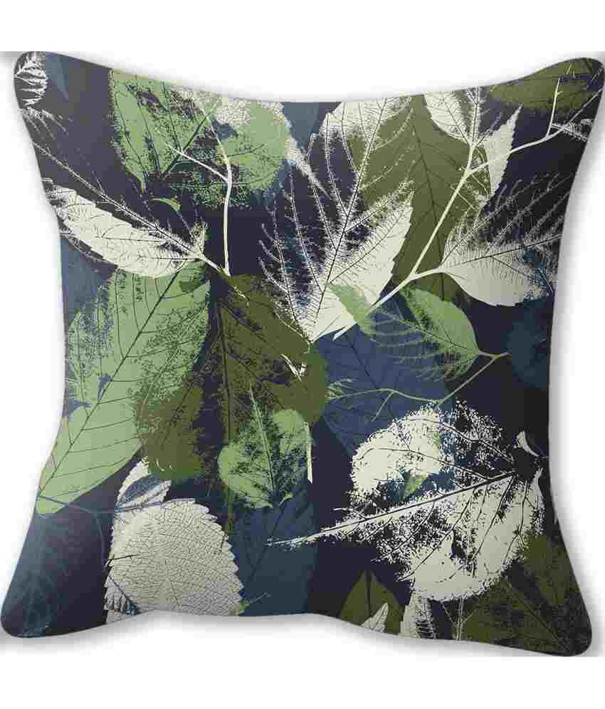 Conure Home Furnishing Falling Leaves Reversible Cushion Cover