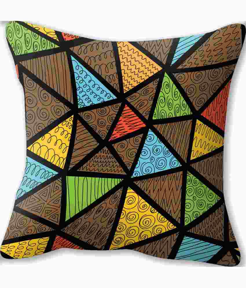 Conure Home Furnishing Triangles Reversible Cushion Cover