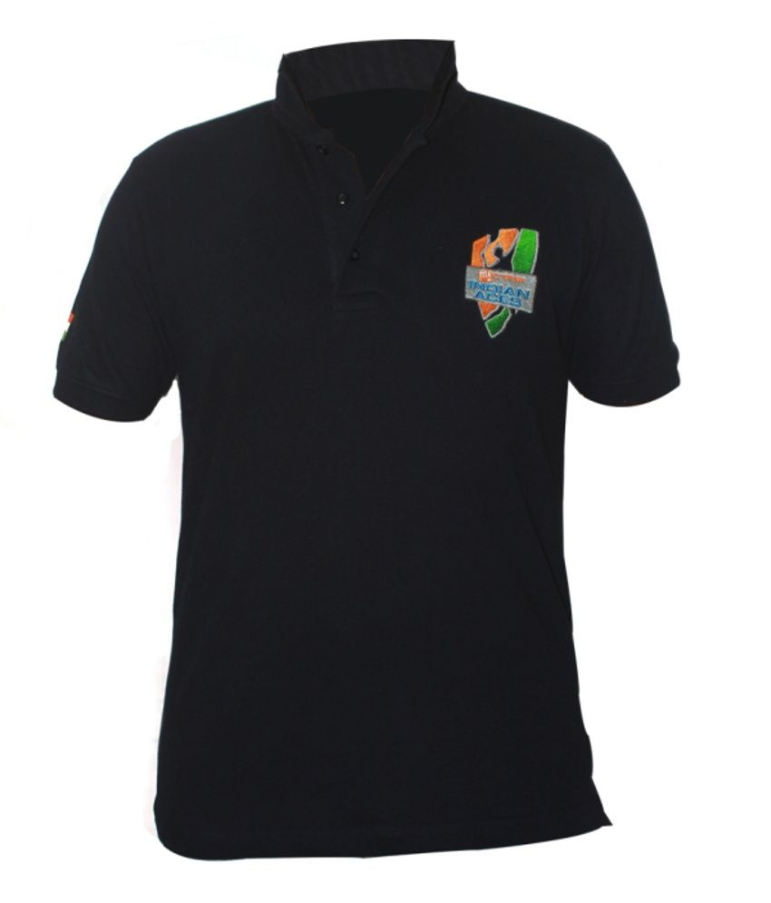 Indian Aces Premium Navy Blue Polo T Shirt