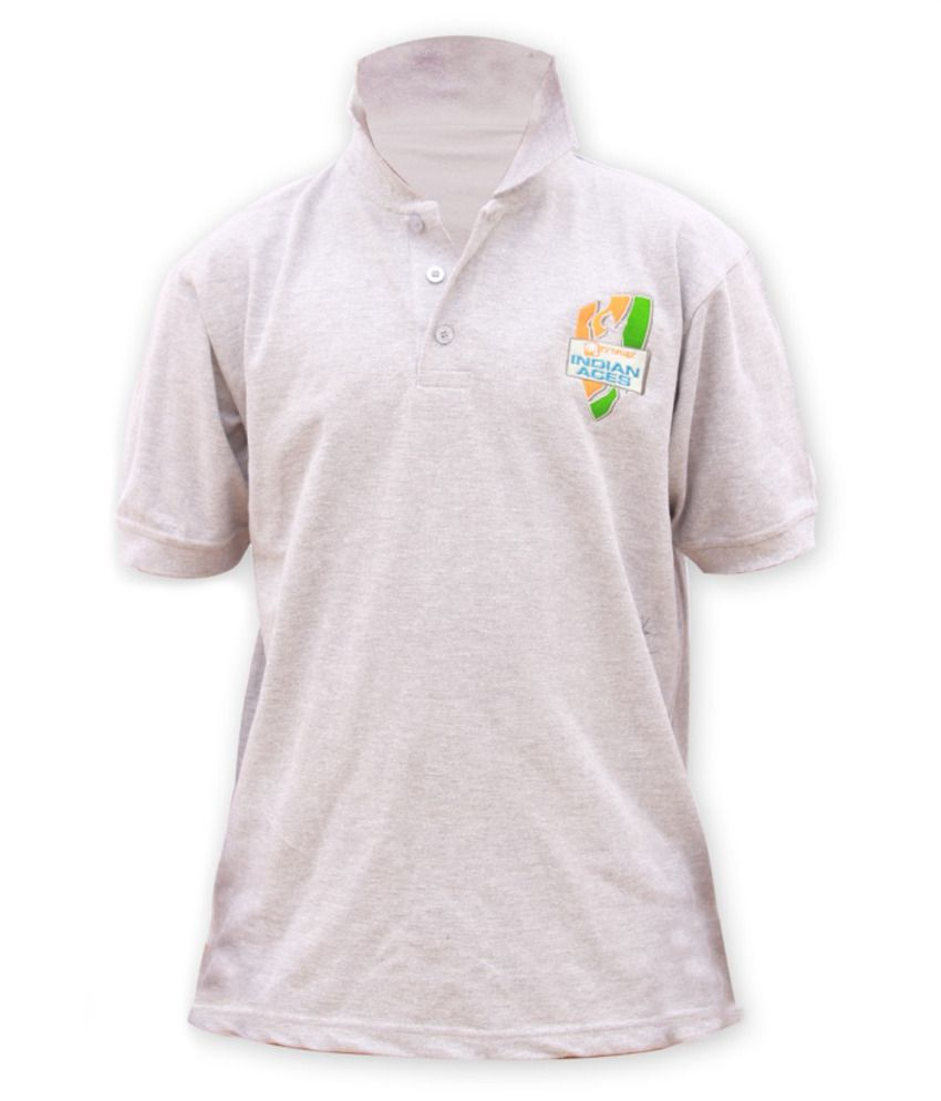 Indian Aces Premium Polo Gray T Shirt