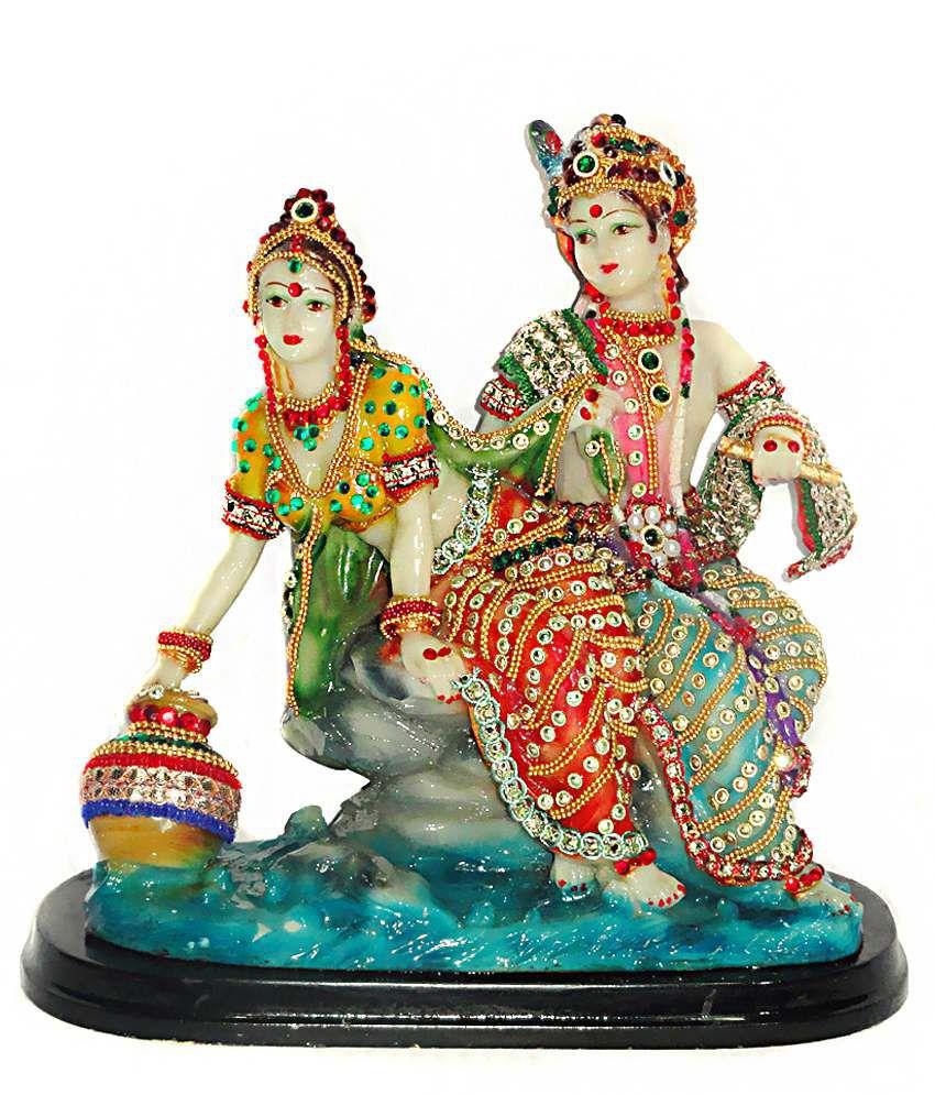 Paras Magic Radha Krishna Idol Red & Blue: Buy Paras Magic