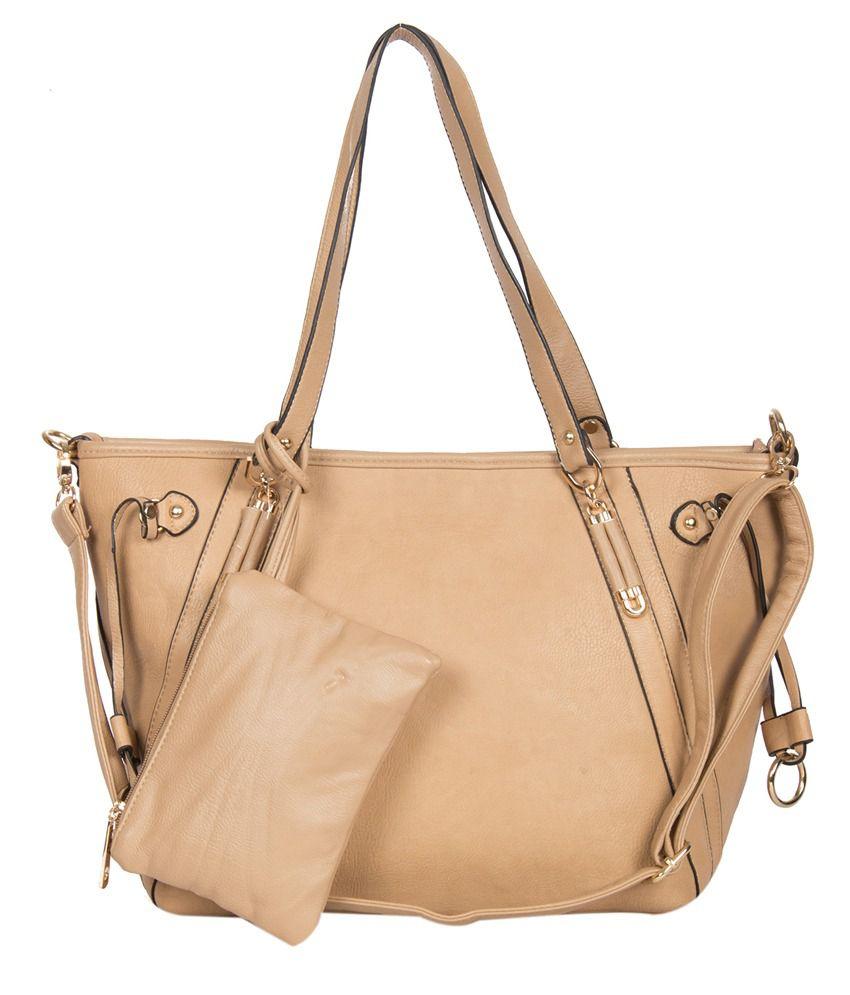 Rigo Hb11141029 Beige Shoulder Bags