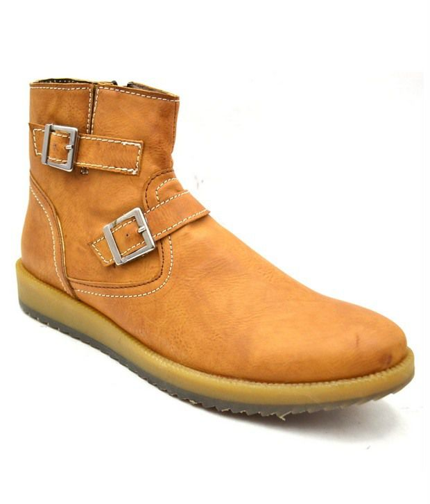 Zoot24 Tan Faux Leather Boots