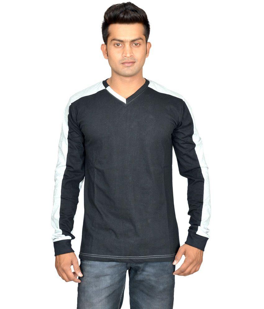 Avoir Envie Multicolour Full Sleeves Cotton Blend T-shirt
