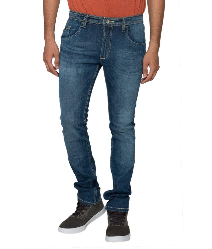 Identiti Denim Light Blue Low Rise Tapered Leg Casual Jeans