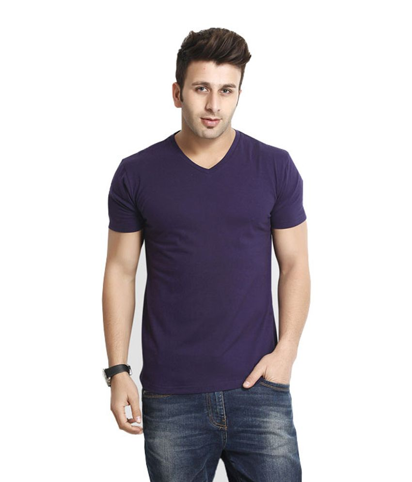 Wintex Purple Cotton Half Sleeve T-shirt