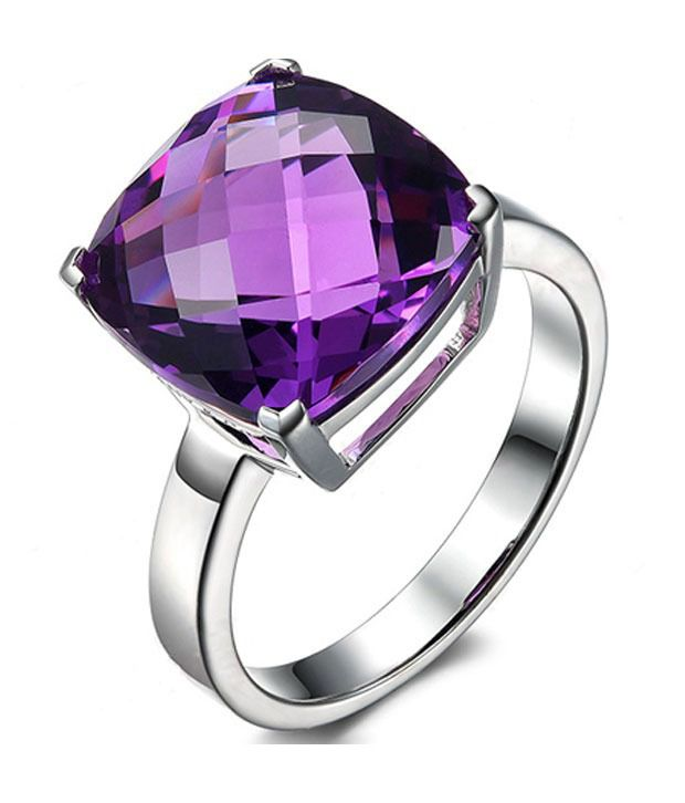 11 Astro Gems Certified 5.00 Crt Natural Amethyst In 92.5 Silver