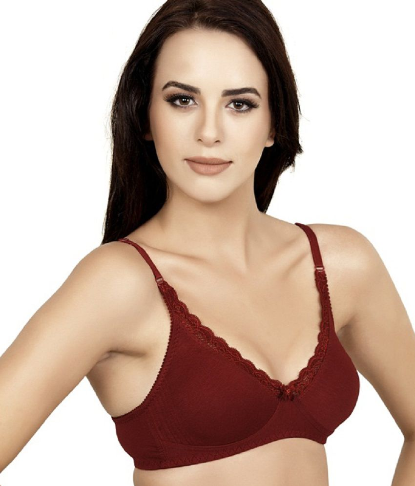 fbb62cad02bab Buy Alies Lingerie - T-shirt Bra - Lavina ( Maroon ) Online at Best Prices  in India - Snapdeal