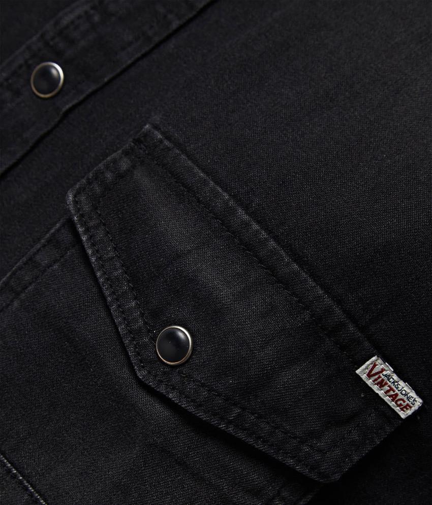 Jack Jones Vintage Black Denim Slim Fit Shirt Buy Jack Jones