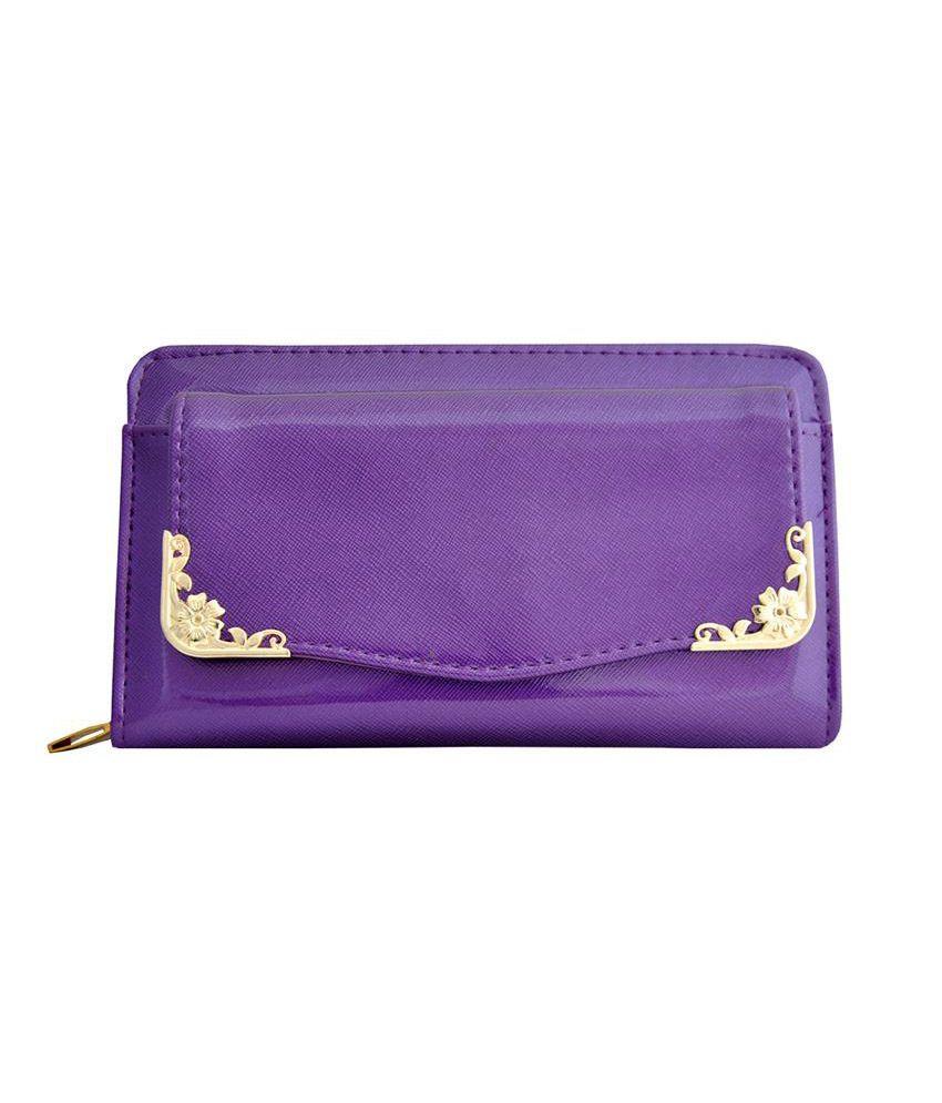 Lalana Purple Wallet For Women