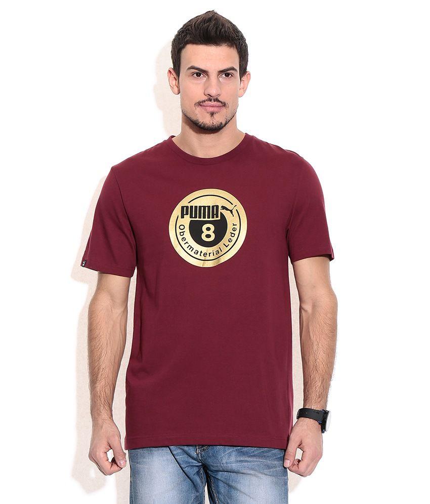 Puma Maroon  T-Shirt