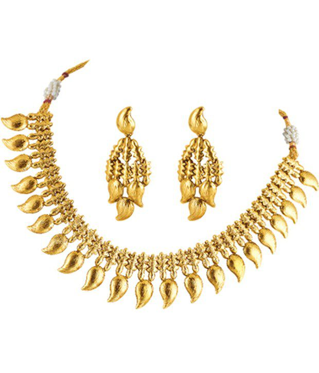 Fashionography Maang Maala Necklace And Earrings Set