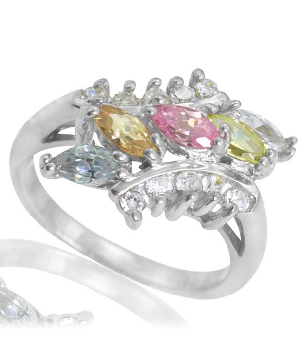 Arsh Crown Sky Dominion 2.45 Ctw Cubic Zirconia 925 Sterling Silver Ring