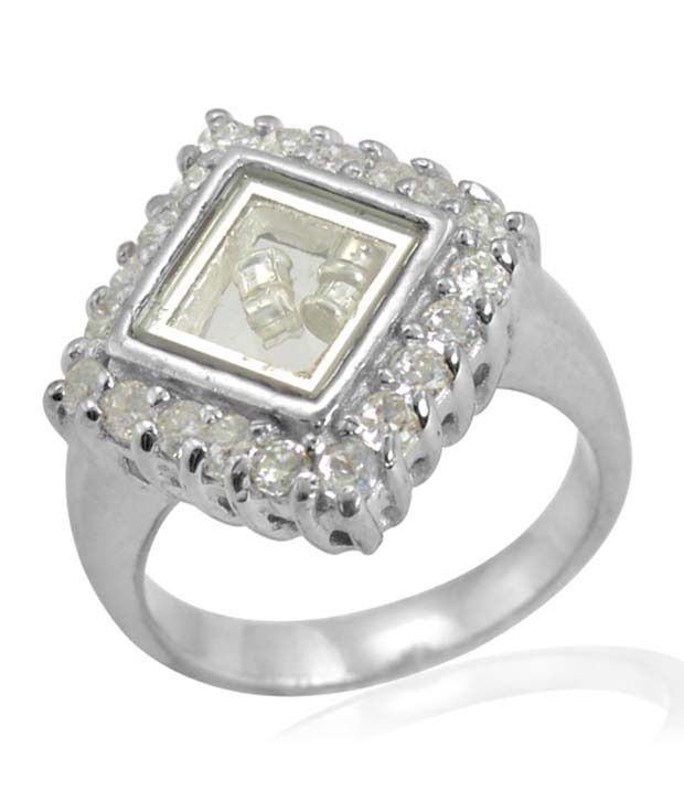 Arsh Crown Sky Dominion 3.10 Ctw Cubic Zirconia 925 Sterling Silver Ring