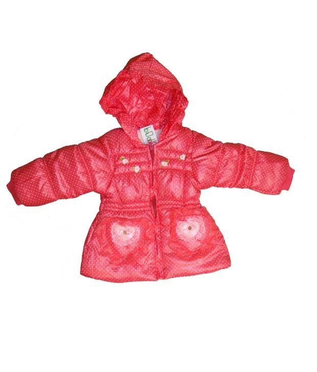 Bodingo Pink Casual Girls Jacket