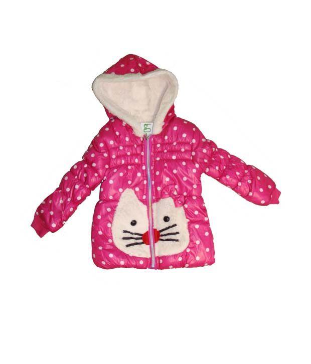Bodingo Pink Casual Girls Jacket