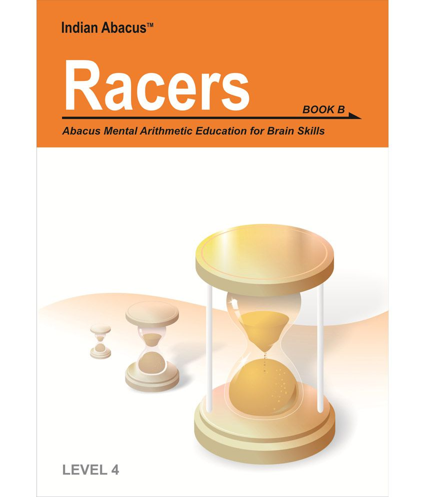 Indian Abacus Self Learning Pack - Racers ( 4th Level )