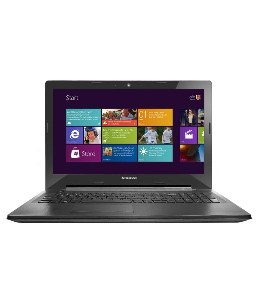 Lenovo G50-30 Notebook (Intel Celeron /2GB/500GB/39.62cm (15.6)/WIN8.1 SL) (Black )(80G001NSIN)