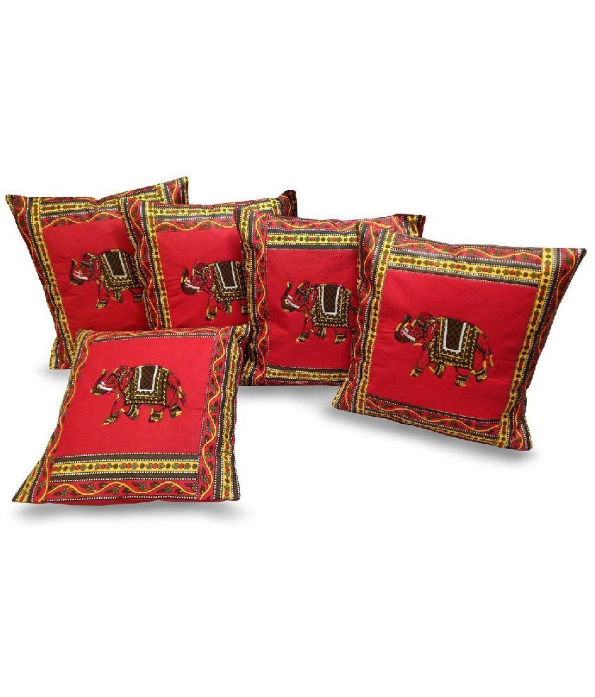 Red Shaker Heart Patchwork Cushion Cover 50cm