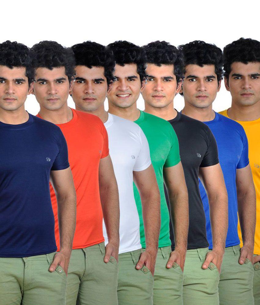 Tsx Polyester Round Neck T- Shirt