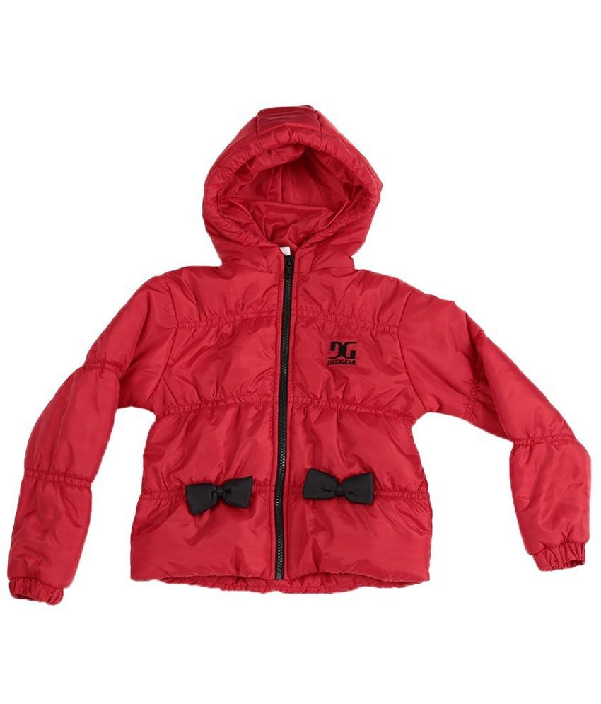 Dazzgear Warm Red Hooded Jacket For Kids