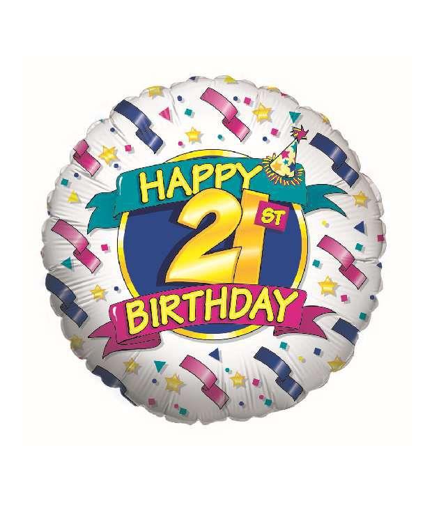 Fusion Balloons Happy 21st Birthday Balloon