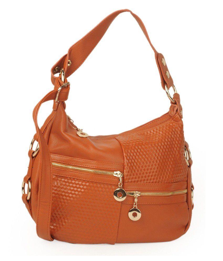 ADISA Orange P.u Womens Handbag