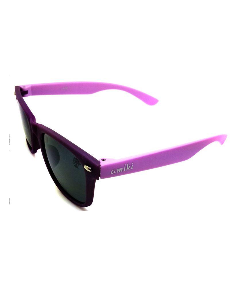 Amiki Black Color Wayfarer Sunglass