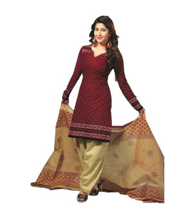 0cd518a40 Universal Printed Cotton Salwar Suit red color Dress Material - Buy  Universal Printed Cotton Salwar Suit red color Dress Material Online at Best  Prices in ...