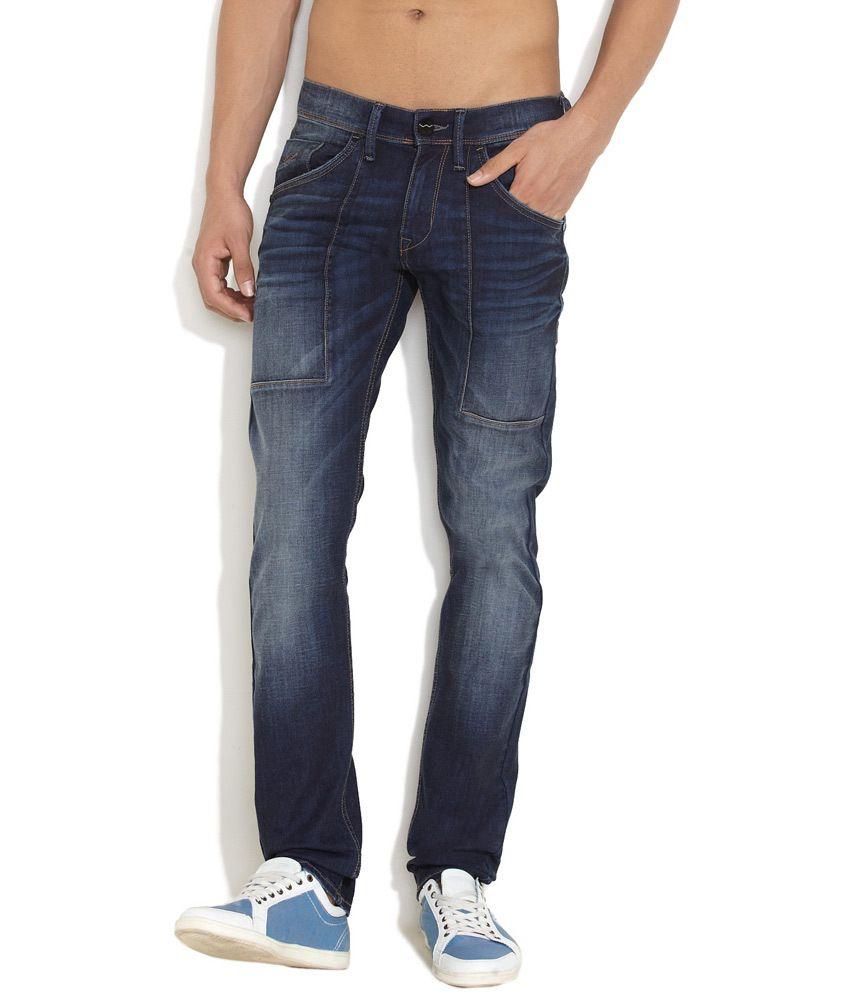 Web Jeans Medium Blue Toughen Up Slim Fit Jeans