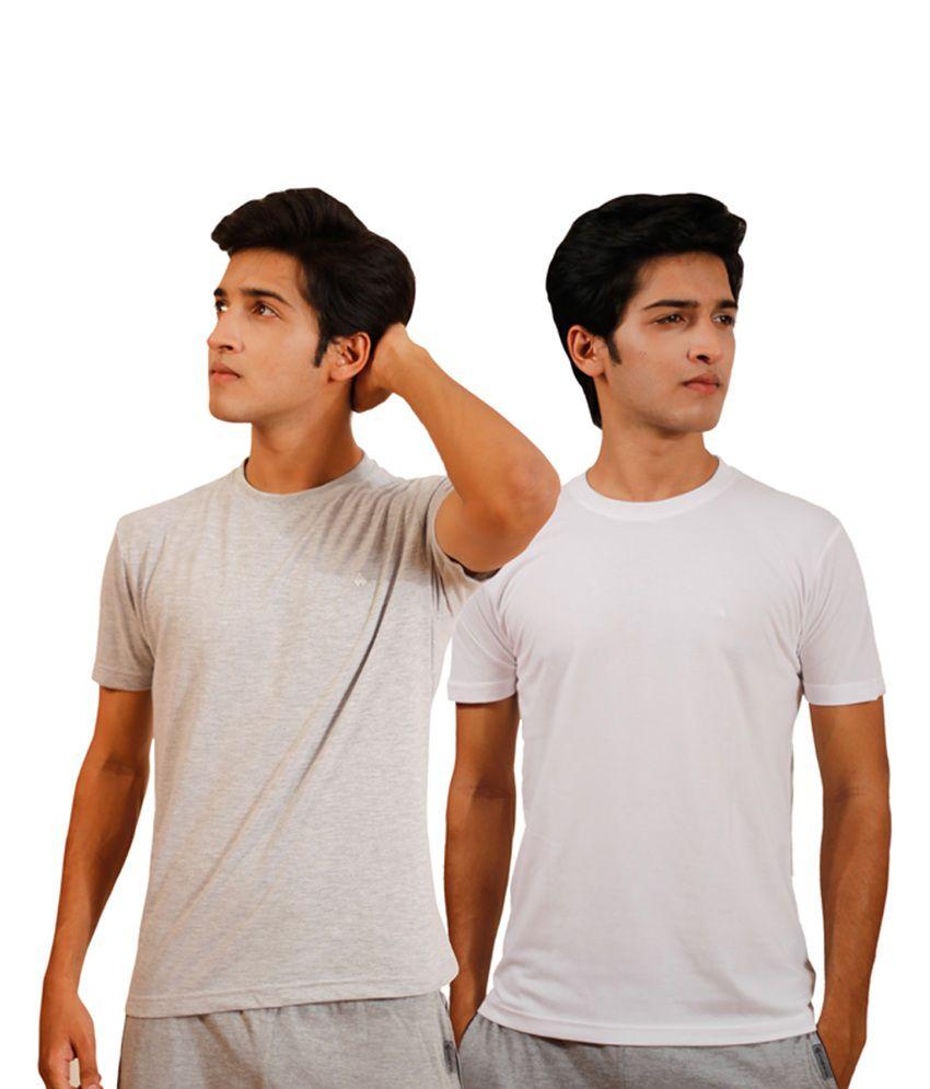 Tryd Cotton Round Neck Half Men's T Shirt - Pack Of 2